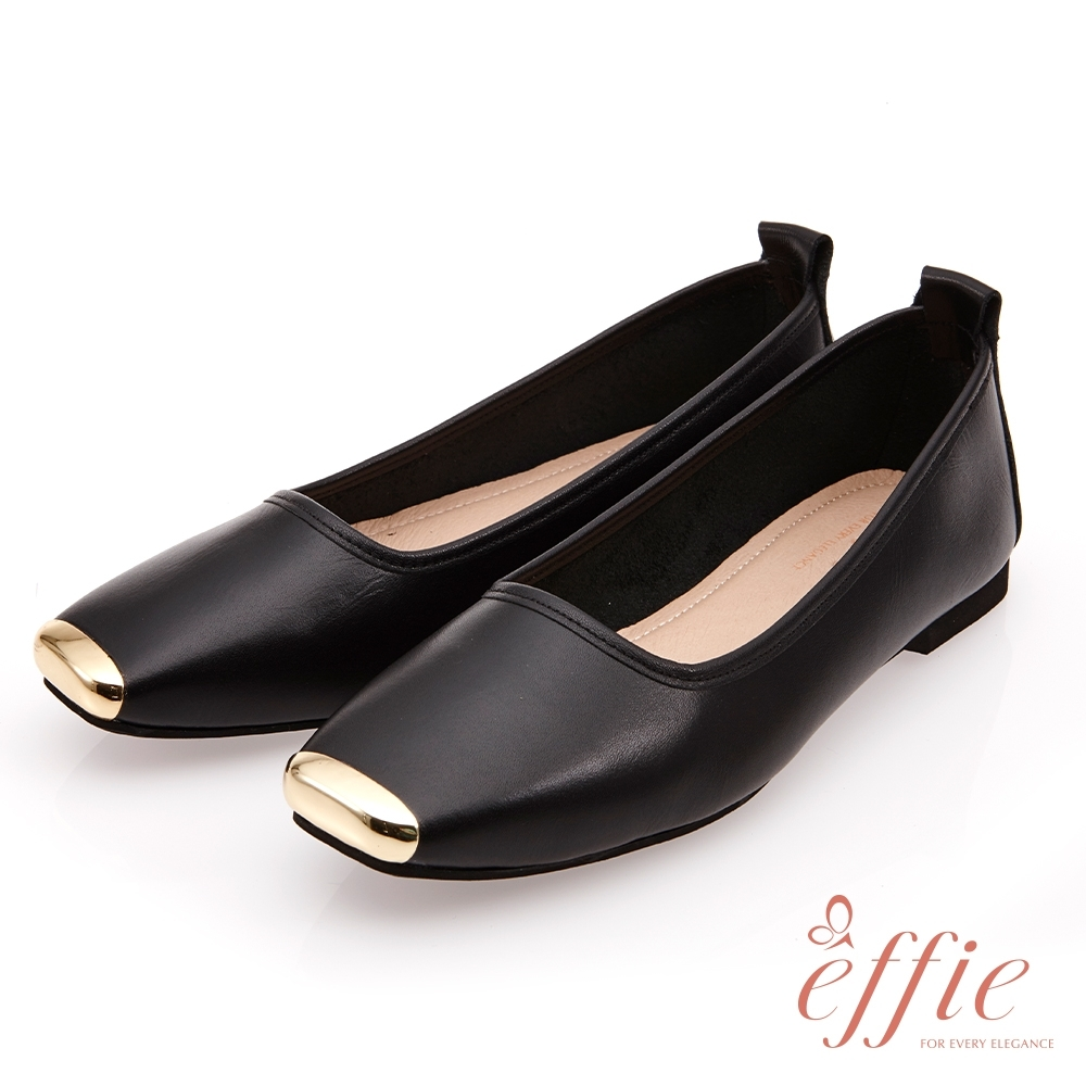 effie 艾菲小花園-經典百搭素色平底鞋(網獨款)-黑