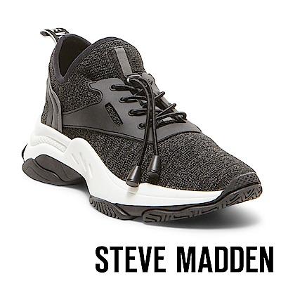 STEVE MADDEN-MATCH-LOGO素面增高休閒鞋-鐵色
