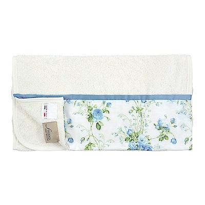 日本丸真 義大利製頂級純棉厚磅飯店毛巾-浪漫藍玫瑰