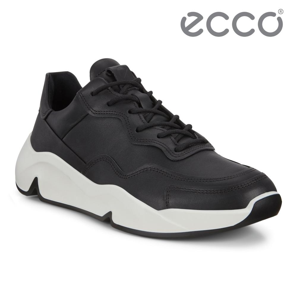 ECCO CHUNKY SNEAKER M 潮趣簡約輕量單色休閒運動鞋 男鞋 黑色