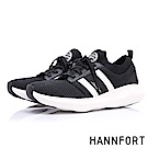 HANNFORT BUBBLES網眼綁帶芭蕾厚底跑鞋-女-搶眼黑