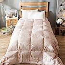 戀家小舖 / 雙人棉被  天然水鳥羽絲絨被-兩色可選  輕盈透氣  蓄熱保暖  台灣製