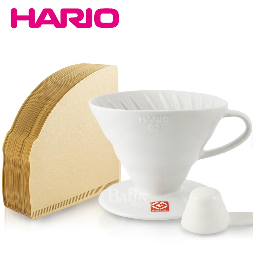 日本 HARIO 1-2人份 有田燒陶瓷濾杯+無漂白01濾紙100張