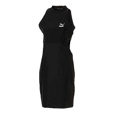 PUMA-女性流行系列經典曲線連身裙-黑色-歐規