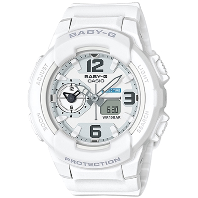 BABY-G 引領潮流系列百變時尚休閒錶(BGA- 230 - 7 B)白色 42 . 9 mm