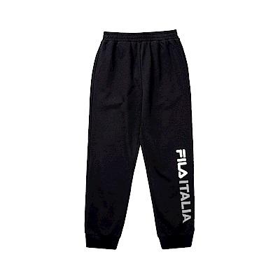 FILA KIDS 童針織束口長褲-黑 1PNT-8906-BK