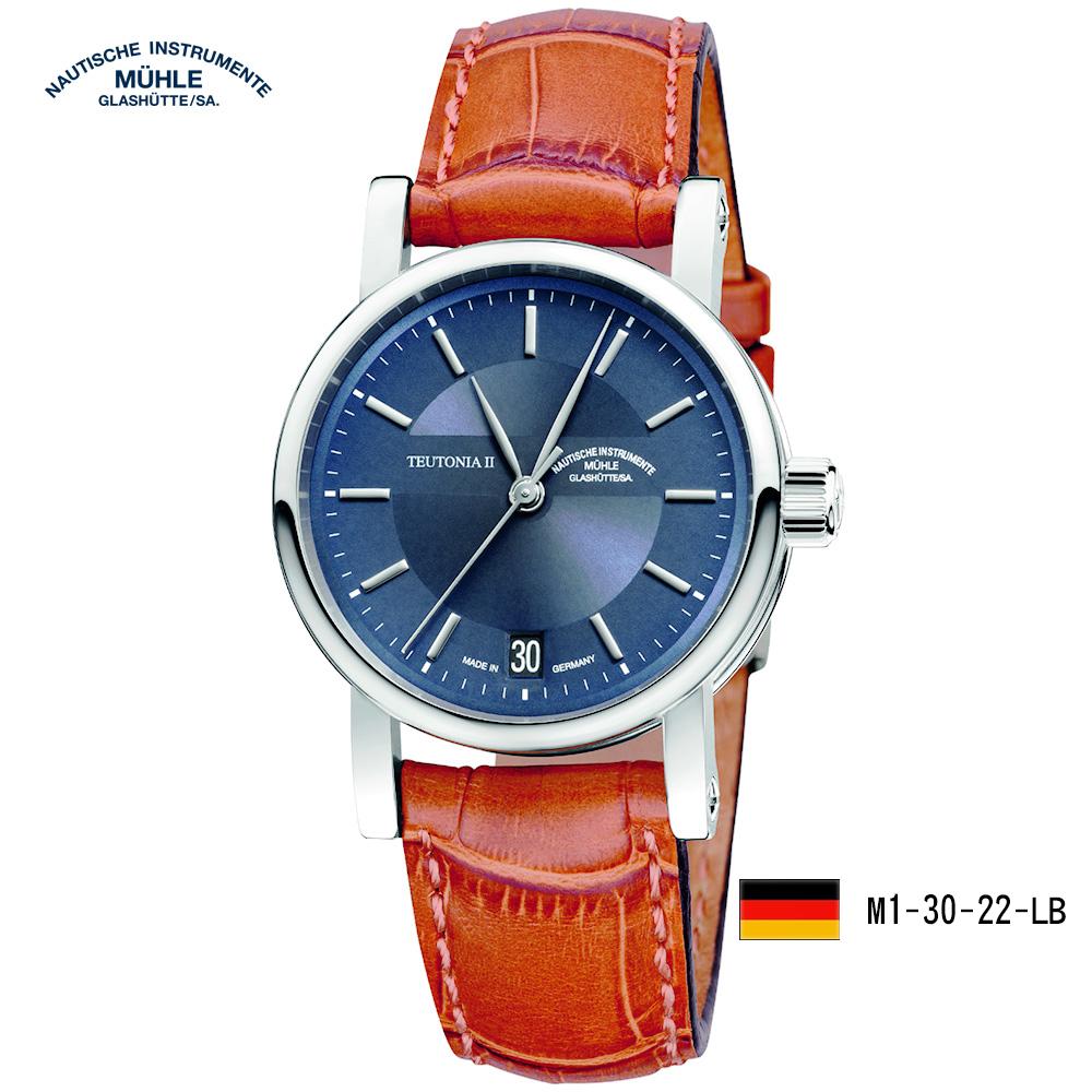 格拉蘇蒂·莫勒 經典系列-日耳曼M1-30-22-LB機械腕錶