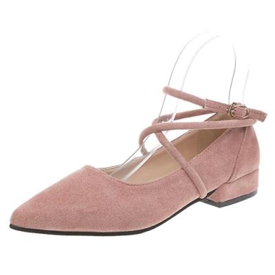KEITH-WILL時尚鞋館 超有型舒適素色簡約尖頭鞋-粉