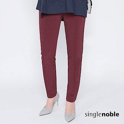 獨身貴族 華麗冒險壓縫褲管修身內搭褲(2色)