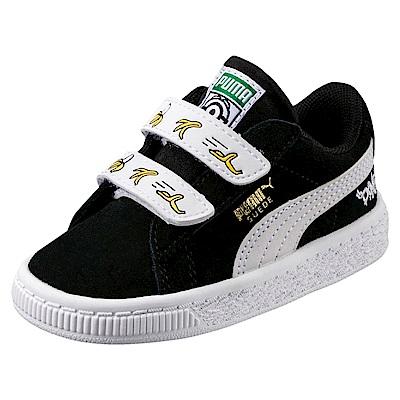 PUMA-MinionsSuedeVPS孩童鞋-黑色