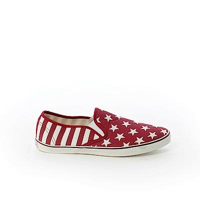 【AIRWALK】星星條紋帆布鞋-紅