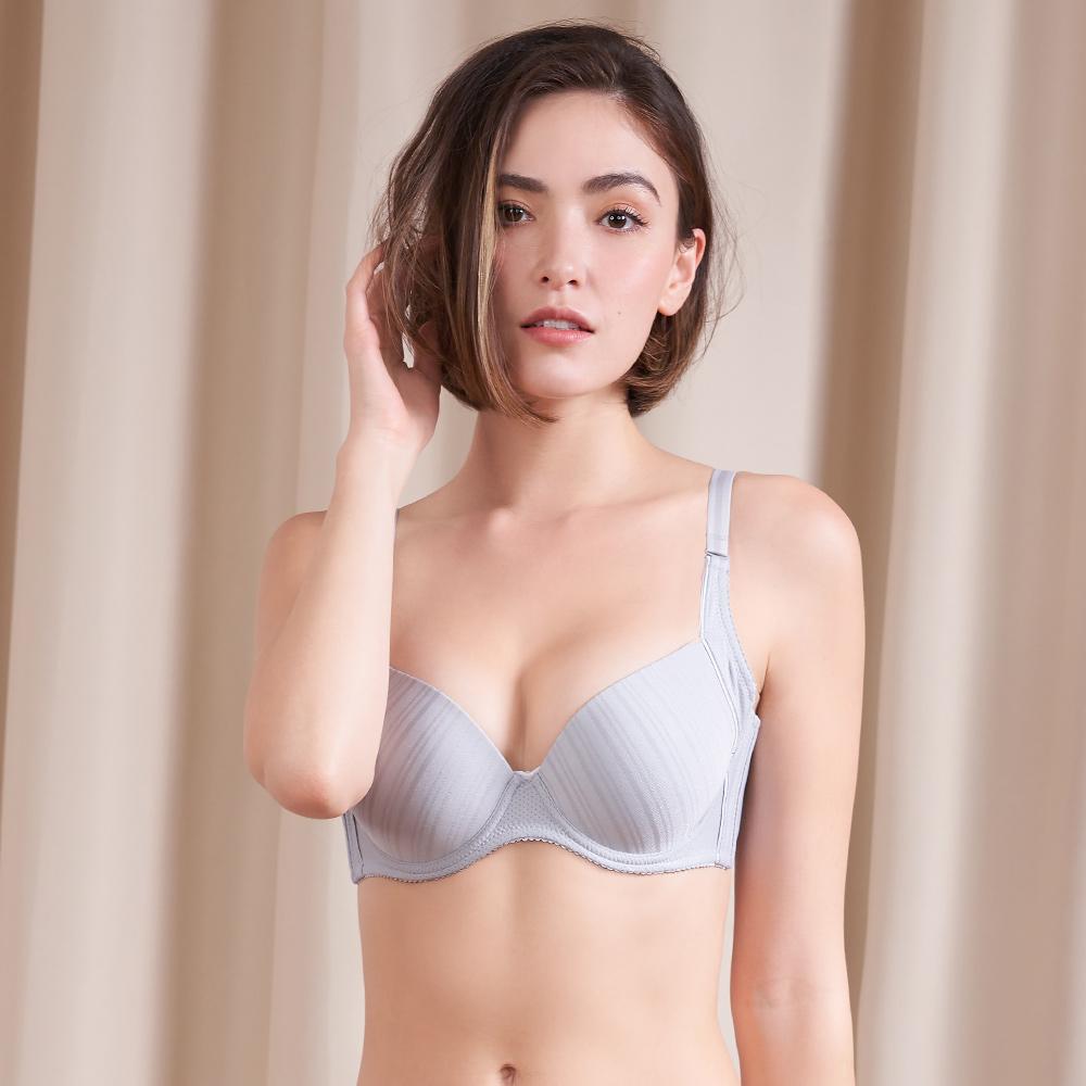 黛安芬-T-Shirt Bra軟鋼圈無痕款 D-E罩杯內衣(竹炭暖灰)