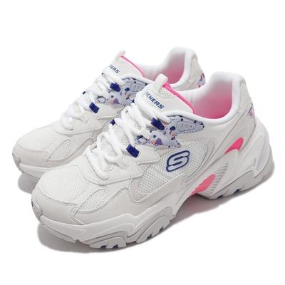 Skechers 休閒鞋 Stamina V2 ART Walk 女鞋 防滑 耐磨 復古 輕量 避震 緩衝 厚底 白 彩 149512-WMLT