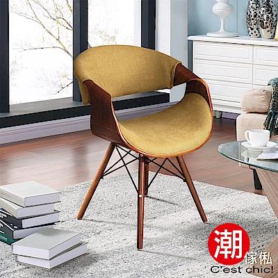 C est Chic_Sandra桑德拉單椅-布質-橄欖綠