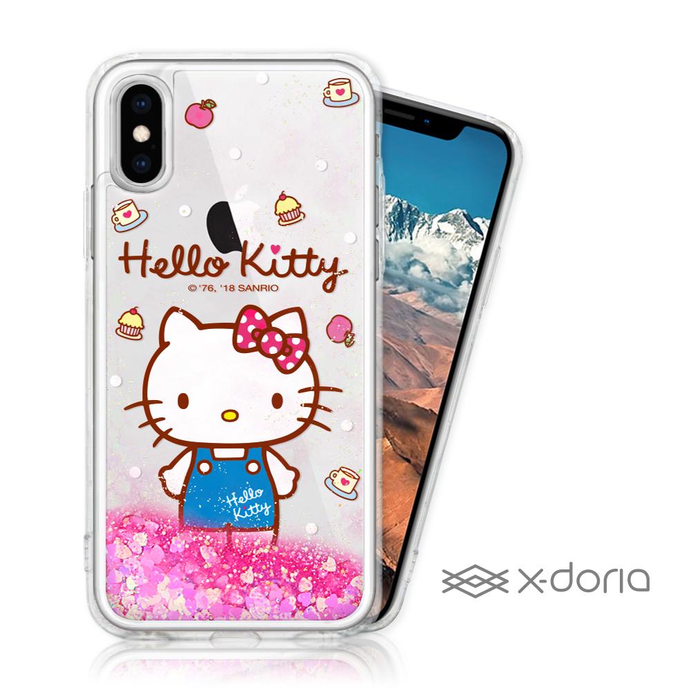 Hello Kitty iPhone Xs Max 亮片流沙手機軟殼 - 點心