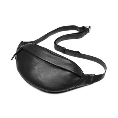 MARKBERG Tova 丹麥手工牛皮個性托瓦腰包 胸包 斜背包(極簡黑)