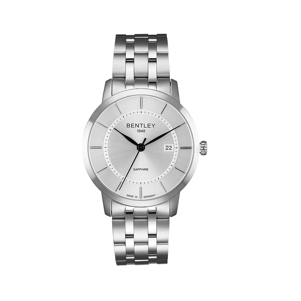 BENTLEY賓利 卓越系列 超越極限手錶-銀/40mm