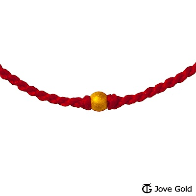 Jove Gold 漾金飾 純真黃金珠繩手鍊