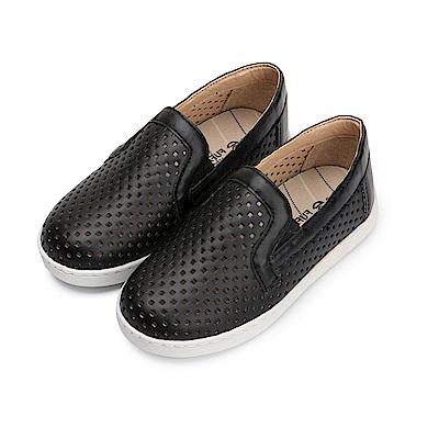 BuyGlasses 百搭休閒透氣童款懶人鞋-黑