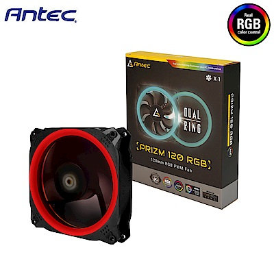 Antec 安鈦克 Prizm 120 RGB 光稜扇 ( 12V)  系統散熱風扇