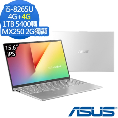 ASUS X512FL 15吋筆電 i5-8265U/4G+4G/1TB/MX250/特