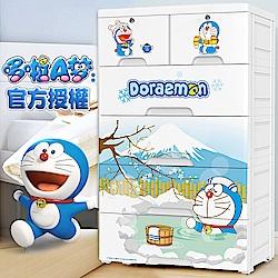 哆啦A夢玩具衣物五層收納櫃DIY