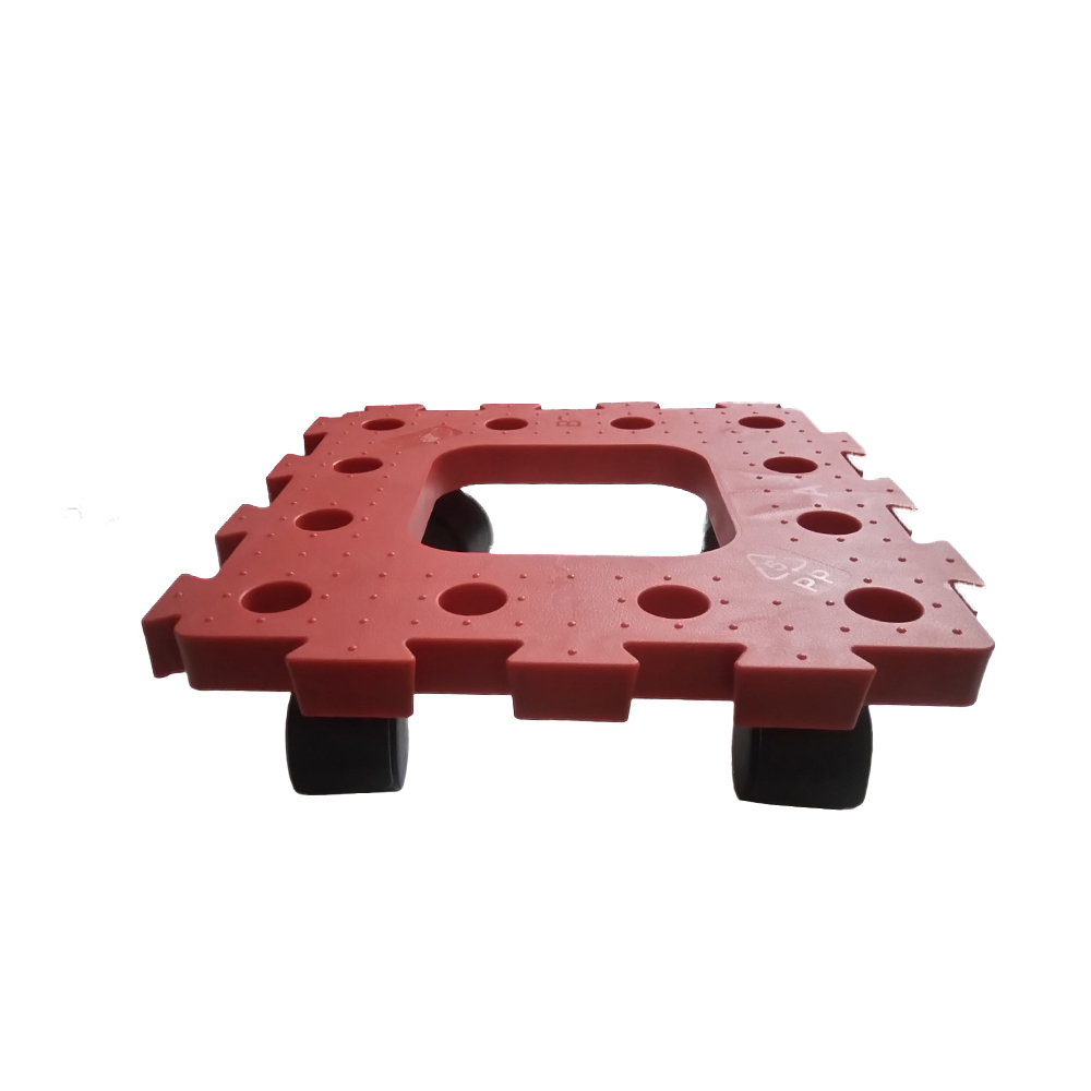 金德恩 台灣製造 2組耐衝擊巧拼滑輪可移動棧板1組2片隨機色