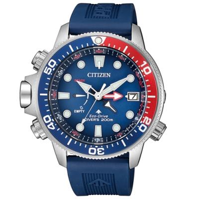 CITIZEN PROMASTER潛水200米光動能橡膠腕錶BN2038-01L