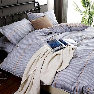 夢工場 只表心意60支紗長絨棉床包兩用被組-雙人