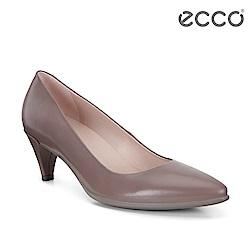 ECCO SHAPE 45 POINTY SLEEK 經典細跟尖頭跟鞋 女-藕粉