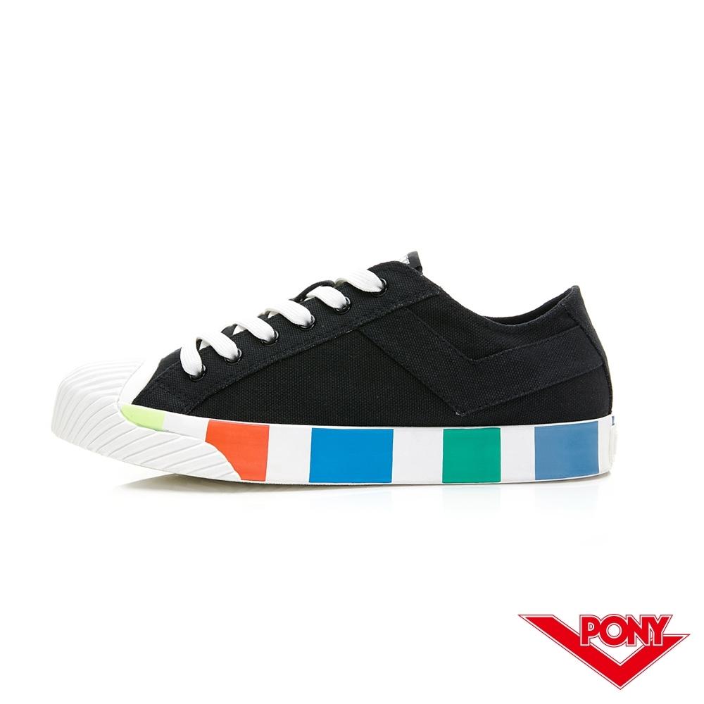 【PONY】Shooter系列 潮流設計百搭餅乾鞋 帆布鞋 休閒鞋 女鞋 黑色