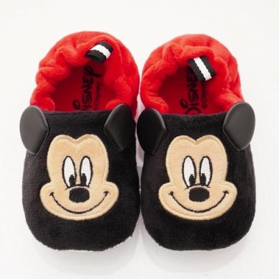 迪士尼童鞋 米奇電繡絨毛學步鞋款 ON19838黑紅(寶寶段)