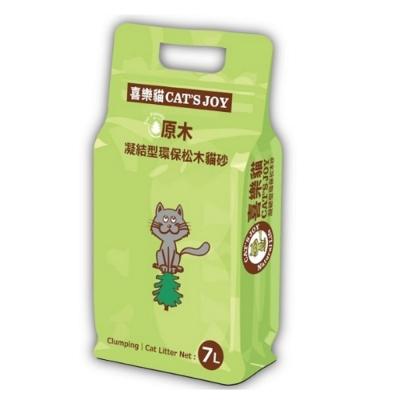 喜樂貓CAT S JOY-凝結型環保松木貓砂-原木 7L(四包組)