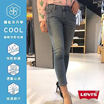 Levis 女款 711 中腰緊身牛仔長褲 Cool Jeans 彈性布料 潑墨