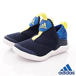 adidas童鞋 簡約輕便休閒鞋款 NI6859藍(中小童段)
