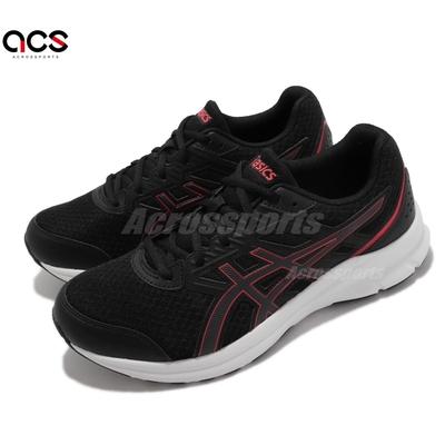 Asics 慢跑鞋 Jolt 3 4E 超寬楦 運動休閒 男鞋 亞瑟士 基本 訓練 貼合 柔軟 黑 紅 1011B041006