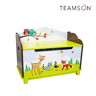 Teamson 童趣手繪安全防夾木製玩具收納箱 (7款)