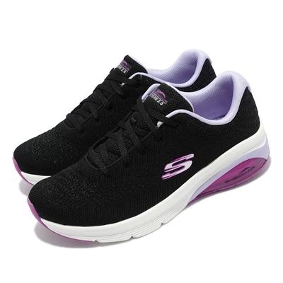 Skechers 休閒鞋 Skech-Air Extreme 2 女鞋 踏青 郊遊 緩衝鞋墊 氣墊 可機洗 網布 黑 紫 149645-BKLV