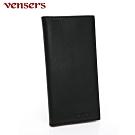 【vensers】小牛皮潮流個性皮夾~(NB53037301黑色長夾)