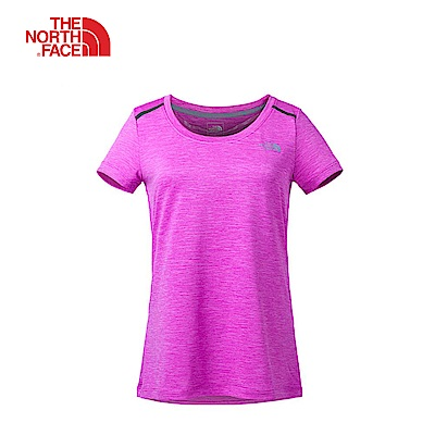 The North Face北面女款桃紅吸濕排汗戶外短袖T恤|3CHZ1MP