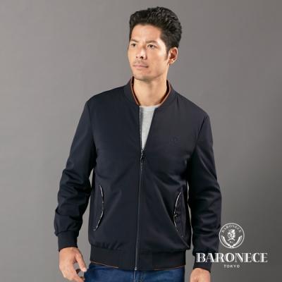 BARONECE 百諾禮士休閒商務  男裝 球衣領薄夾克外套-丈青色(1206663-39)
