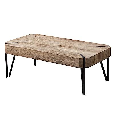 文創集 康納斯工業風3.7尺木紋大茶几(二色可選)-110x60x42cm免組