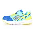 DIADORA 中童競速慢跑鞋-超寬楦 藍黃