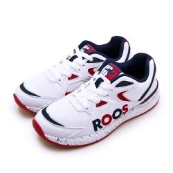 KangaROOS 經典電繡LOGO復古慢跑鞋 紅標系列 白藍紅 91079