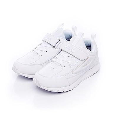 FILA KIDS大童復古MD慢跑鞋-白 3-J809S-111