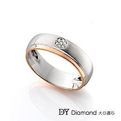 DY Diamond 大亞鑽石 18K金 雙色時尚男戒