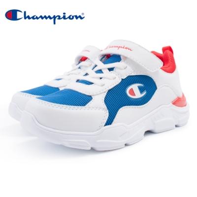 【Champion】LOW-KEY 運動童鞋 大童鞋-白/藍/紅(KSUS-0364-06)