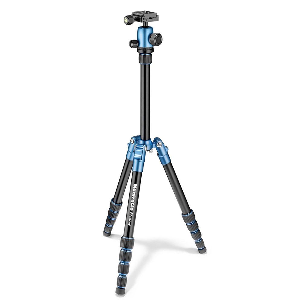 Manfrotto Element 鋁合金小型腳架-藍色(MKELES5BL-BH)