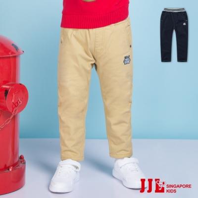 JJLKIDS 小機器人素色直筒內刷毛休閒長褲(2色)