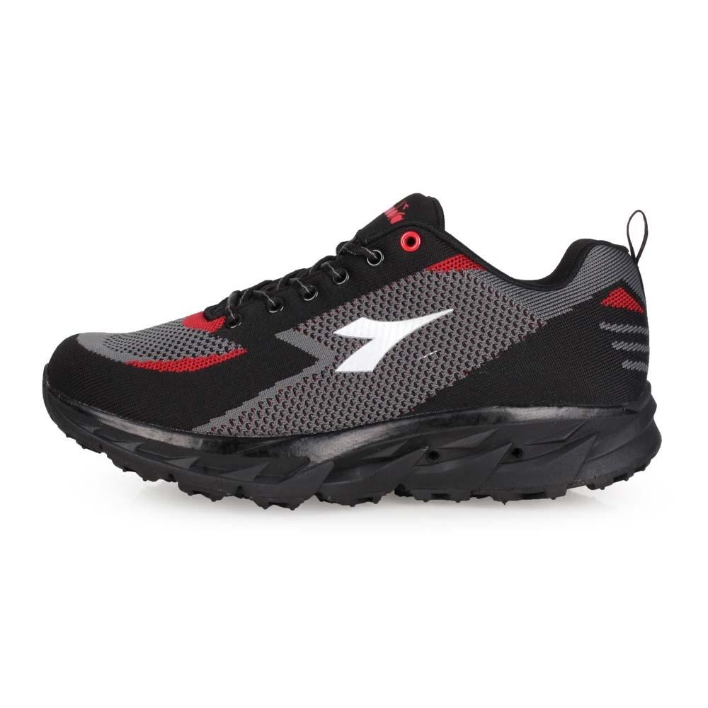 DIADORA 男 戶外越野跑鞋-寬楦 黑灰紅